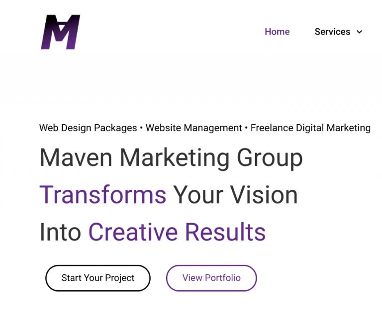 Web Design Techniques   Maven Marketing Group